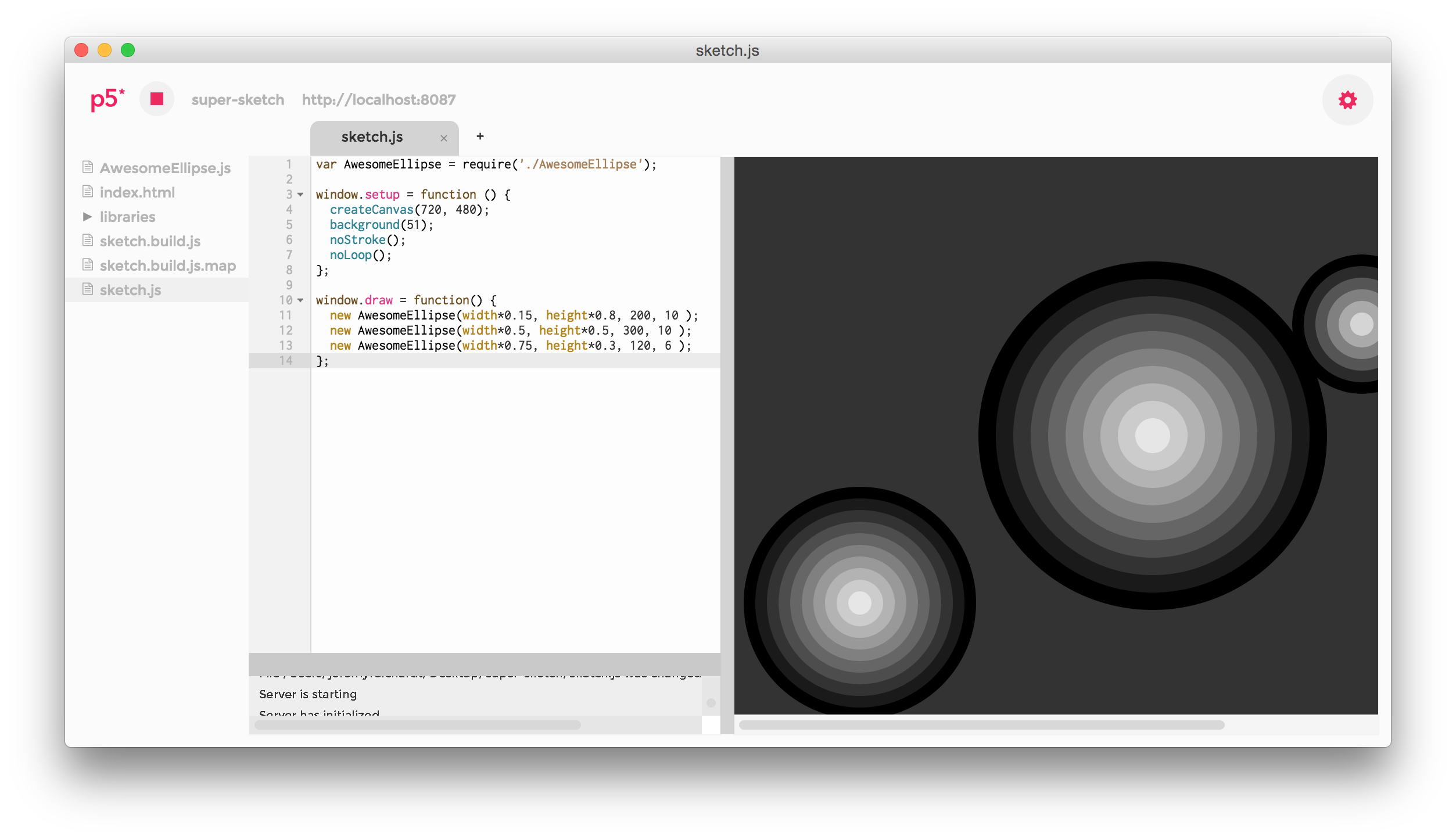P5 Js Editor Browserify Browser Sync